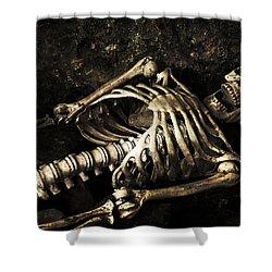 Skeleton  Shower Curtain by Amanda Elwell