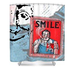 Smile Shower Curtain by Edward Fielding