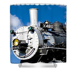 Smiling Locomotive Shower Curtain