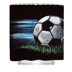 Soccer Ball Shower Curtain by Dani Abbott