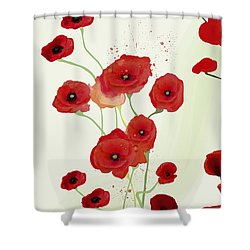 Sonata Of Poppies Shower Curtain