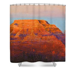 South Rim Sunset Shower Curtain by Margaret Bobb