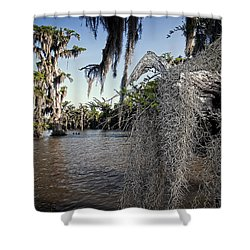 Shower Curtain featuring the photograph Spanish Moss by Andy Crawford
