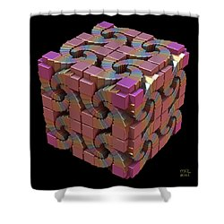 Shower Curtain featuring the digital art Spiral Box IIi by Manny Lorenzo