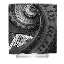 Spiral Staircase Shower Curtain by Chevy Fleet