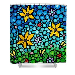 Spring Maidens Shower Curtain by Sharon Cummings