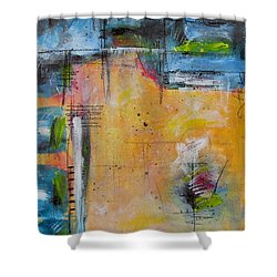 Shower Curtain featuring the painting Spring by Nicole Nadeau