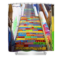 Stairway To Heaven Valparaiso  Chile Shower Curtain