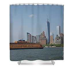 Staten Island Ferry Shower Curtain by Carol Ailles