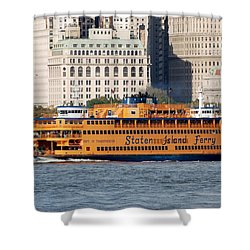 Staten Island Ferry Shower Curtain by Rob Hans