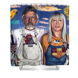 Sunday Morning Shower Curtain by Leah Saulnier The Painting Maniac