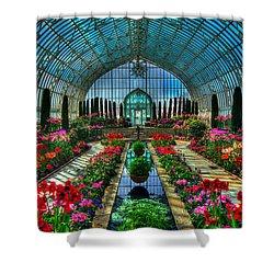 Sunken Garden Como Conservatory Shower Curtain by Amanda Stadther