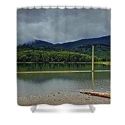 Sunny Beach Point Shower Curtain