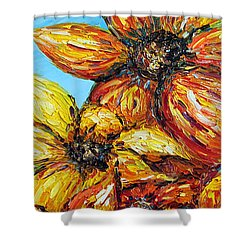 Shower Curtain featuring the painting Sunrise by Meaghan Troup