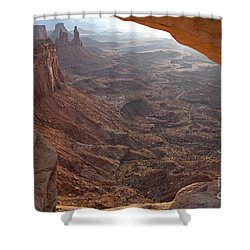 Sunrise Mesa Arch Canyonlands National Park Shower Curtain