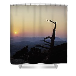 Sunset From Mt Scott Shower Curtain