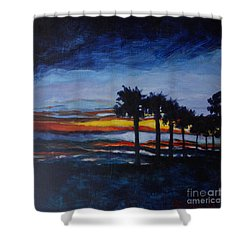 Sunset In St. Andrews Shower Curtain by Jan Bennicoff