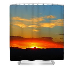 Sunset In The Desert Shower Curtain