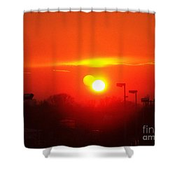 Shower Curtain featuring the photograph Sunset by Jasna Dragun
