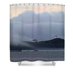 Swallowtail Lighthouse... Shower Curtain by Nina Stavlund