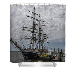 Shower Curtain featuring the photograph Tall Ship Gunilla by Dale Powell