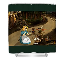 Shower Curtain featuring the painting Tammy Meets Cedric The Mongoose by Reynold Jay