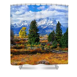 Teton Autumn Shower Curtain