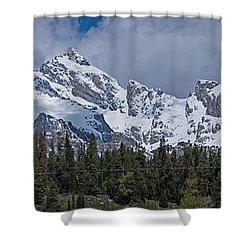 Large Tetons Panorama Shower Curtain