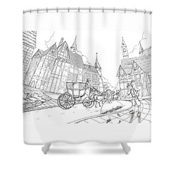 The Bavarian Village Shower Curtain
