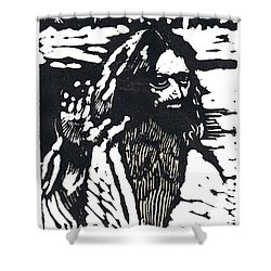 The Blessing Shower Curtain by Seth Weaver