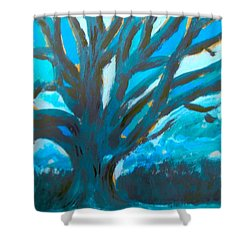 The Blue Tree Shower Curtain