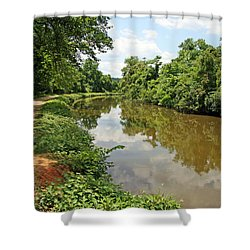 The Chesapeake And Ohio Canal Shower Curtain by Cora Wandel