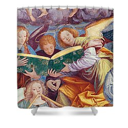 The Concert Of Angels Shower Curtain by Gaudenzio Ferrari
