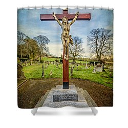The Cross Shower Curtain by Adrian Evans