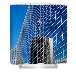 Shower Curtain featuring the photograph The Crystal Cathedral by Duncan Selby
