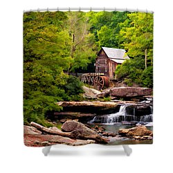 The Grist Mill Painted  Shower Curtain by Steve Harrington