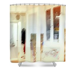 2 The Hallway Shower Curtain