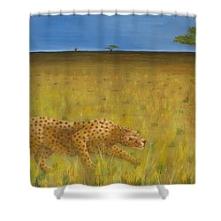 The Hunt Shower Curtain by Tim Townsend