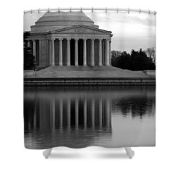 Shower Curtain featuring the photograph The Jefferson Memorial by Cora Wandel