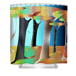 The Magic Forest Shower Curtain by Iris Gelbart