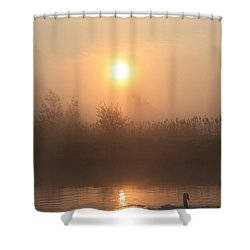 The Peace Of Dawn Shower Curtain by Linsey Williams