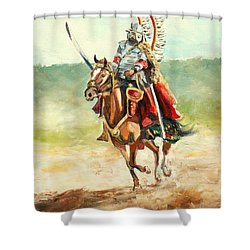 The Polish Winged Hussar Shower Curtain