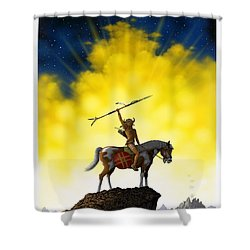 The Signal Shower Curtain by Scott Ross