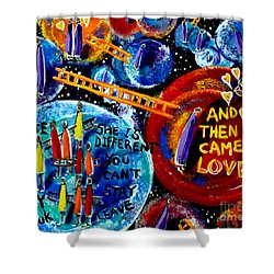 Shower Curtain featuring the painting Then Came Love by Jackie Carpenter