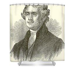 Thomas Jefferson Shower Curtain by English School
