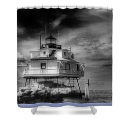 Thomas Point Shoal Lighthouse Bnw Shower Curtain