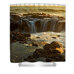 Thor's Well Shower Curtain by Nick  Boren