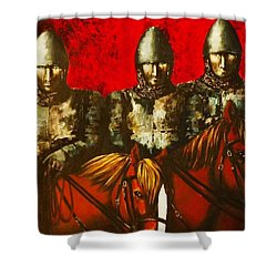 Three Knights Shower Curtain