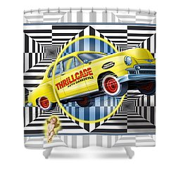 Thrillcade Shower Curtain by Scott Ross
