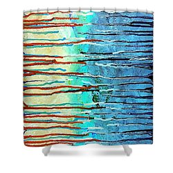 Thru The Storm 7 Shower Curtain by Lady Ex